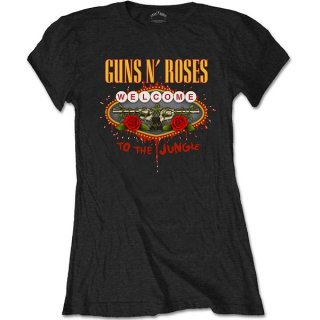 GUNS N' ROSES Welcome to the Jungle, レディースTシャツ