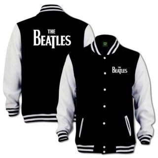 THE BEATLES Drop T Logo with Back Printing, バーシティジャケット