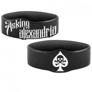ASKING ALEXANDRIA Skull Spade, シリコンリストバンド