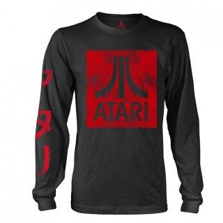 ATARI Box Logo Black, ロングTシャツ