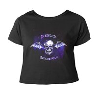 AVENGED SEVENFOLD Bat skull (cropped), レディースTシャツ