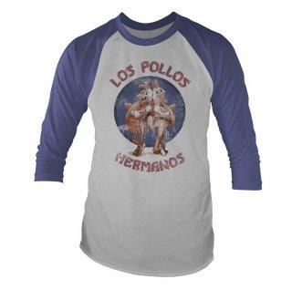 BREAKING BAD Los pollos, ラグラン七分袖シャツ
