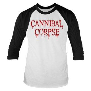 CANNIBAL CORPSE Dripping Logo, ラグラン七分袖シャツ
