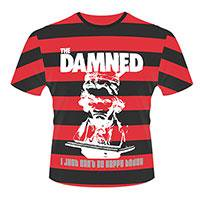 THE DAMNED I just can't be happy today (stripes), Tシャツ