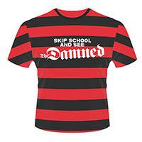 THE DAMNED Skip school (stripes), Tシャツ
