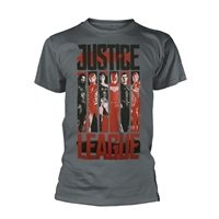 JUSTICE LEAGUE Striped Characters, Tシャツ