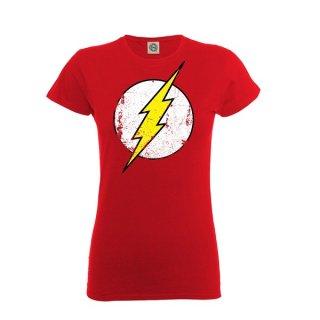 DC ORIGINALS Flash Distressed Logo, レディースTシャツ