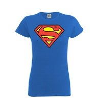 SUPERMAN Official superman shield, レディースTシャツ