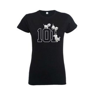 DISNEY 101 Dalmations 101 Doggies, レディースTシャツ