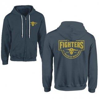 FOO FIGHTERS Insignia Logo Light Blue, Zip-Upパーカー