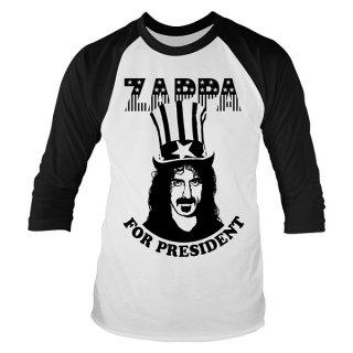 FRANK ZAPPA Zappa For President, ラグラン七分袖シャツ