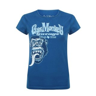 GAS MONKEY GARAGE Tonal monkey classic (blue), レディースTシャツ