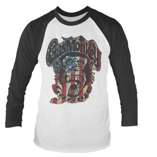 GAS MONKEY GARAGE Usa monkey logo, ラグランロングTシャツ