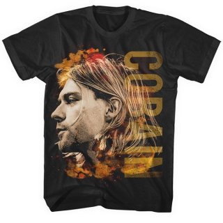 KURT COBAIN Coloured side view, Tシャツ