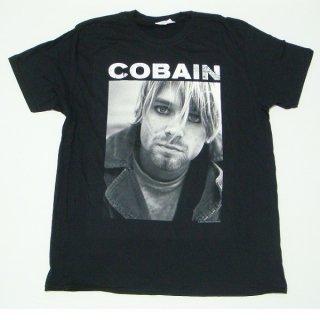 KURT COBAIN Kurt B/w Photo, Tシャツ