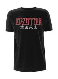 LED ZEPPELIN Logo & symbols, Tシャツ