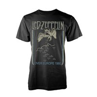 LED ZEPPELIN Over europe 1980, Tシャツ