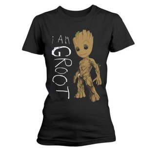 GUARDIANS OF THE GALAXY I Am Groot Scribbles, レディースTシャツ
