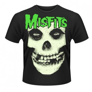 MISFITS Glow Jurek Skull, Tシャツ