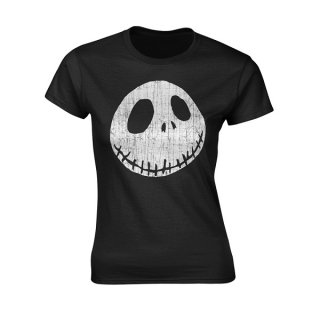 THE NIGHTMARE BEFORE CHRISTMAS Cracked face, レディースTシャツ
