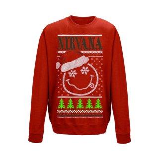 NIRVANA Smiley christmas, スウェットシャツ