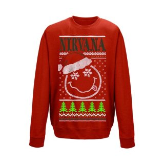 NIRVANA Smiley Christmas, スウェットシャツ