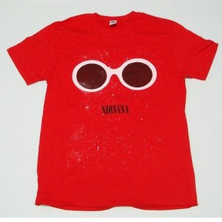 NIRVANA Red Sunglasses, Tシャツ