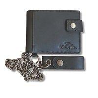 ORANGE COUNTY CHOPPERS Leather biker wallet w/debossed logo & chain, 財布