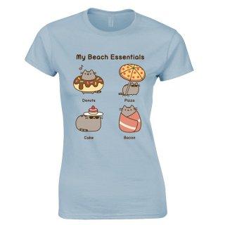 PUSHEEN Beach essentials, レディースTシャツ