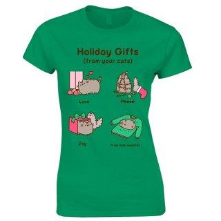 PUSHEEN Holiday gifts, レディースTシャツ