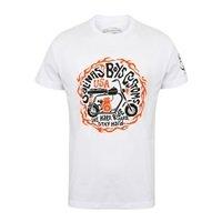 SALINAS BOYS Live hard ride hard stay hard (white), Tシャツ