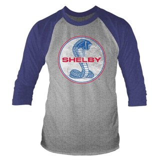 SHELBY Cobra Logo, ラグラン七分袖シャツ
