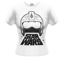 STAR WARS X-wing fighter helmet, レディースTシャツ
