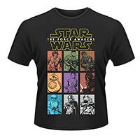 STAR WARS Character panels, Tシャツ