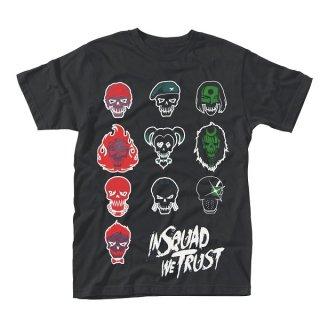 SUICIDE SQUAD In Squad Faces, Tシャツ