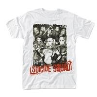 SUICIDE SQUAD Pose red text, Tシャツ