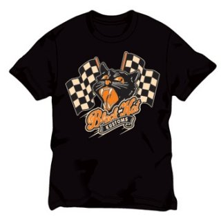 BLACK KAT KUSTOMS Racing Flags、Tシャツ