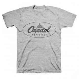 CAPITOL RECORDS Classic Label Logo Grey, Tシャツ