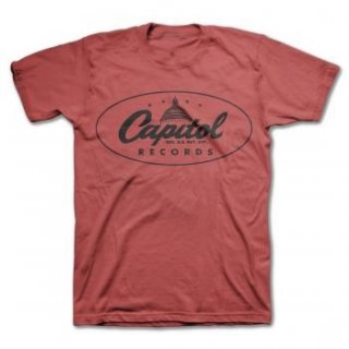 CAPITOL RECORDS Oval Logo/red, Tシャツ