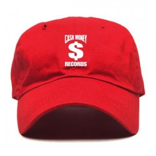 CASH MONEY RECORDS Cm Red Dad Hat, キャップ