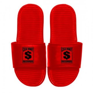 CASH MONEY RECORDS Cm Red Slides, サンダル