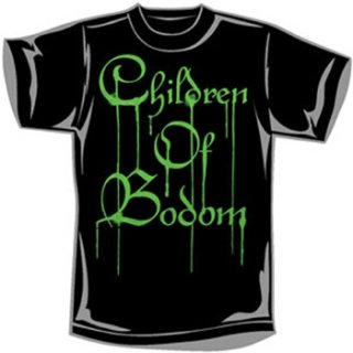 CHILDREN OF BODOM Green Dripping Logo, Tシャツ