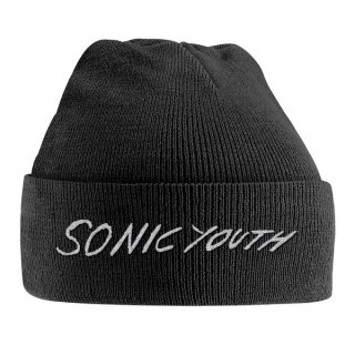 SONIC YOUTH White Logo Embroidered, ニットキャップ