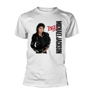 MICHAEL JACKSON Bad (White), Tシャツ