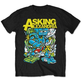 ASKING ALEXANDRIA Asking Killer Robot, Tシャツ<img class='new_mark_img2' src='https://img.shop-pro.jp/img/new/icons5.gif' style='border:none;display:inline;margin:0px;padding:0px;width:auto;' />