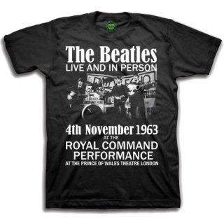 THE BEATLES ive & In Person, Tシャツ