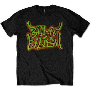 BILLIE EILISH Graffiti Blk, Tシャツ