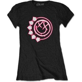 BLINK-182 Six Arrow Smiley, レディースTシャツ