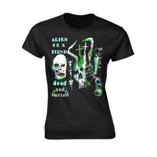 ALIEN SEX FIEND Dead And Buried, レディースTシャツ