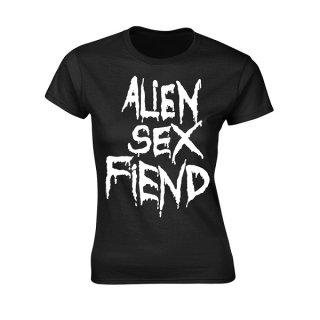ALIEN SEX FIEND Logo, レディースTシャツ